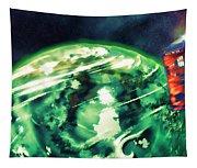 Tardis Crash Landing Tapestry