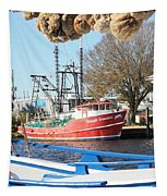 Tarpon Springs Shrimp Boat Tapestry