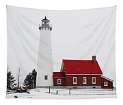 Tawas Point Lighthouse 2 Tapestry