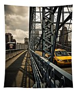 Taxi Crossing Smithfield Street Bridge Pittsburgh Pennsylvania Tapestry
