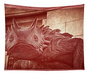 Tcu Horned Frog Red Tapestry