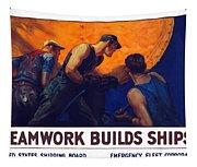 Teamwork Builds Ships Tapestry