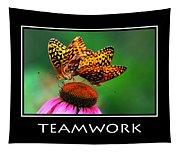 Teamwork Inspirational Motivational Poster Art Tapestry