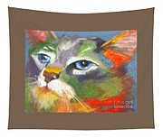 Technicolor Tabby Tapestry