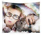 Technology Smart Woman Using Cloud Computing Tapestry