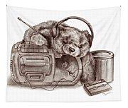Teenage Bear Tapestry
