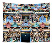 Temple Facade Chennai India Tapestry