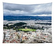 Temple Of Zeus - View From The Acropolis Tapestry