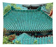 Temple Roofs Tapestry