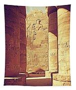 Temples Of Karnak  Tapestry