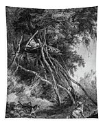 Temporary Tree Dwelling Tapestry