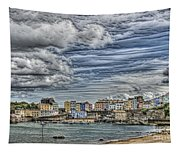Tenby Harbour Texture Effect Tapestry