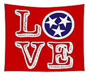 Tennessee Flag Love Tapestry