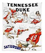 Tennessee Versus Duke 1955 Football Program Tapestry