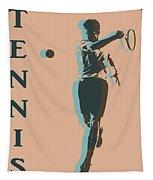 Tennis Player Pop Art Poster Tapestry