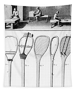 Tennis Rackets Tapestry