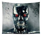Terminator Oil Pastel Sketch Tapestry