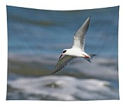 Tern Over The Waves Tapestry