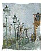 Terrace And Observation Deck At The Moulin De Blute Fin Tapestry