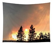 Terrace Mountain Fire 2  Tapestry