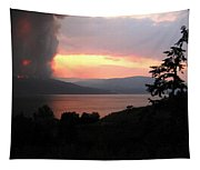 Terrace Mountain Fire 4  Tapestry