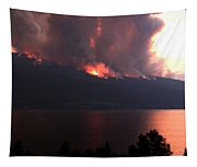 Terrace Mountain Fire 5  Tapestry