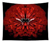 Test Red Abstract Flower 3 Tapestry