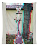 Texaco Gas Pump - Use Red-cyan 3d Glasses Tapestry