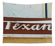 Texan Movie Theater Sign Tapestry
