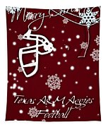 Texas Am Aggies Christmas Card Tapestry