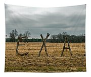 Texas In Tree Branches Tapestry