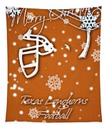Texas Longhorns Christmas Card Tapestry