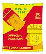 Texas Vs Notre Dame 1934 Program Tapestry
