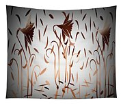 Texture Drama Dancing Flowers Tapestry