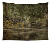 Textured Carriages Tapestry