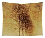 Textured Eerie Trees Tapestry