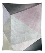 Textured Geometric Triangles Tapestry