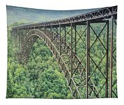Textured New River Gorge Bridge Tapestry