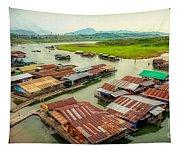 Thai Floating Village Tapestry