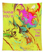 Thank You Card Abstract Lilac Breasted Roller Tapestry