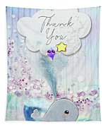 Thank You - Whale  Tapestry