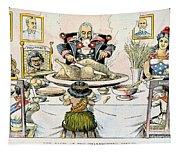 Thanksgiving Cartoon, 1898 Tapestry