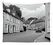 Thaxted Cottages In Black And White Tapestry
