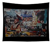 The 80 S Collage Tapestry