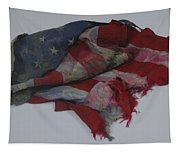 The 9 11 W T C Fallen Heros American Flag Tapestry