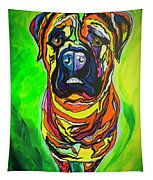 The Abstract Mastiff Tapestry