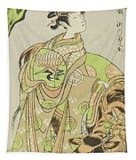 The Actor Segawa Kikunojo II As The Courtesan Maizuru In The Play Furisode Kisaragi Soga Tapestry