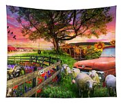 The Appalachian Farm Life In Beautiful Morning Light Tapestry