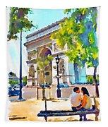 The Arc De Triomphe Paris Tapestry