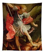 The Archangel Michael Defeating Satan Tapestry
